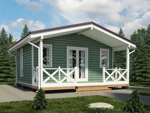 Бригитта - проект красивого мини дома для молодой семьи за 640000 рублей!