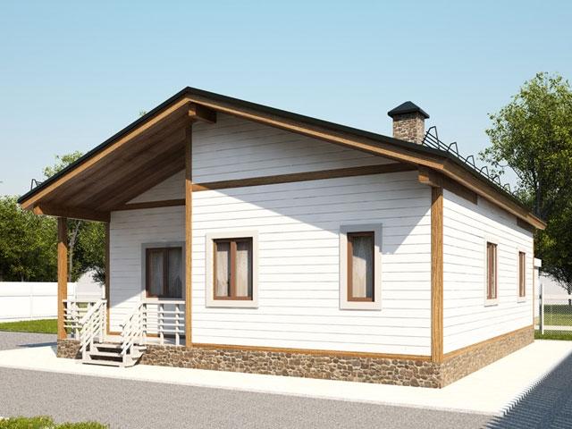 Недорогой финский каркасный дом