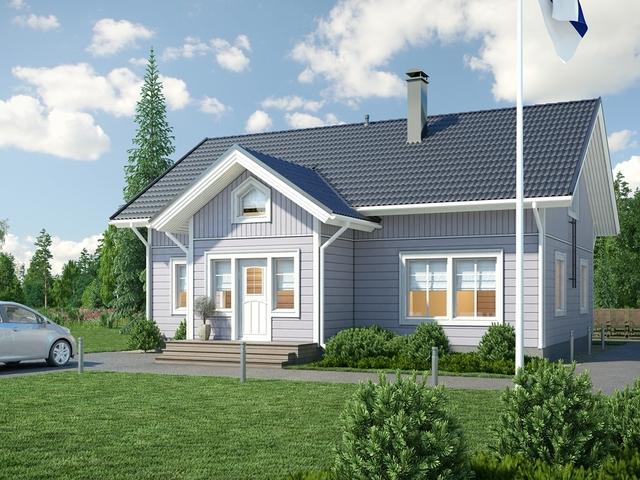 Финский каркасный дом Маритта для загородного отдыха и постоянного проживания