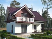 Строительство бюджетного дома с мансардой