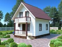Дом Оптима площадью 84 квадратных метра по цене однокомнатной квартиры
