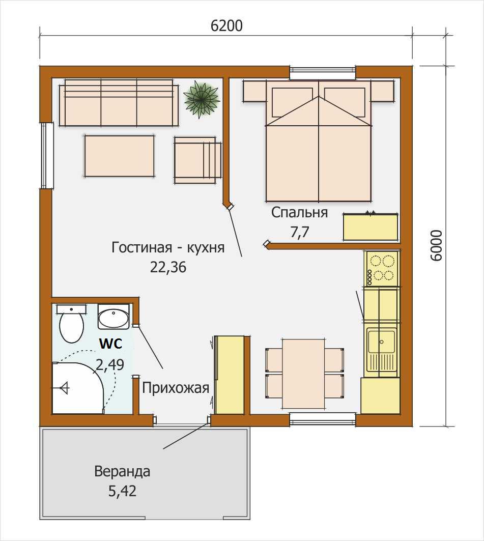 Mini Haus europäische Ebene