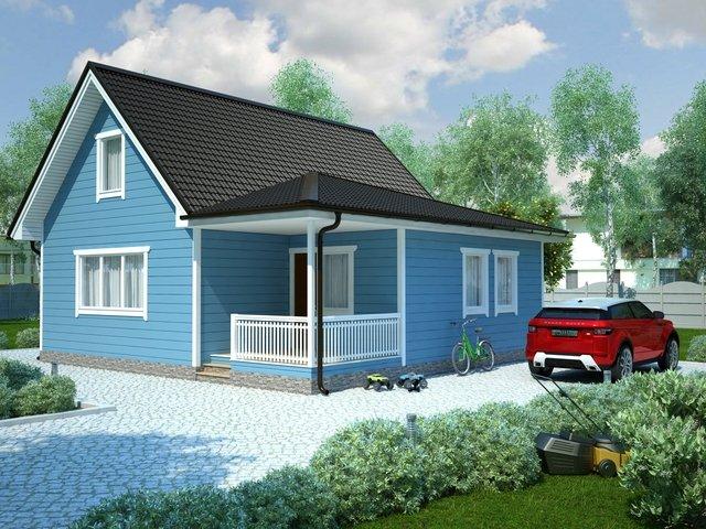 Дом 6х9 - 60 квадратных метров под ключ за 1617 тысяч рублей