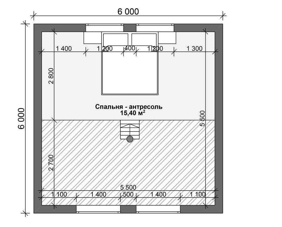 Средняя площадь жилого дома
