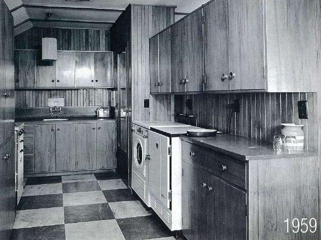 Кухня каркасного дома Левитта