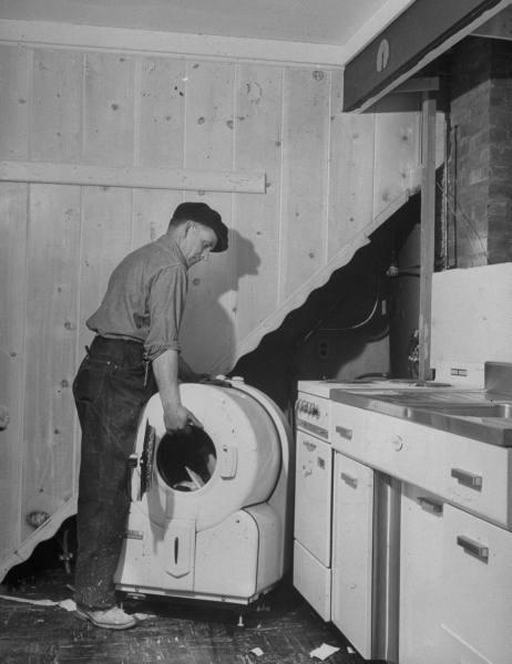 Установка стиральной машины Bendix в новый дом.