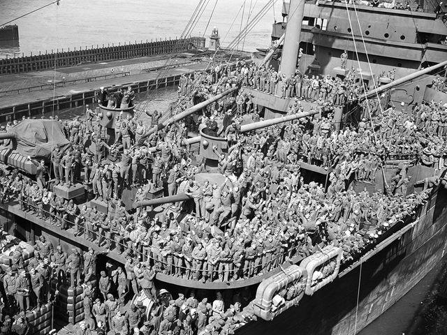 Возвращение американских солдат домой после второй мировой войны